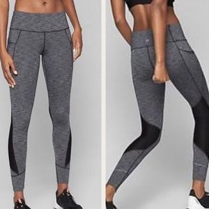 ATHLETA Gray Black Relay Side Pocket Leggings 2.0
